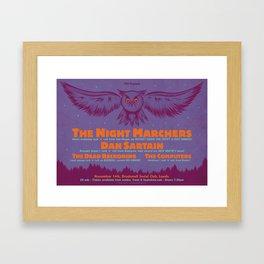 Night Marchers / Dan Sartain Gig Poster. Framed Art Print