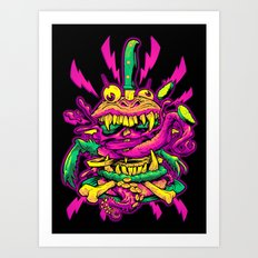 BEASTBURGER 2: ELECTRIC BURGERLOO Art Print