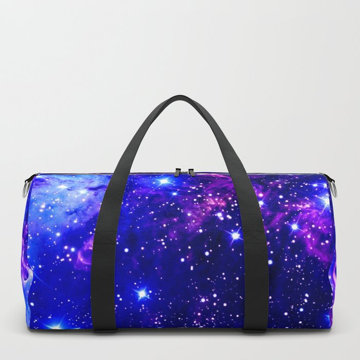 Fox Fur Nebula Galaxy blue purple Duffle Bag