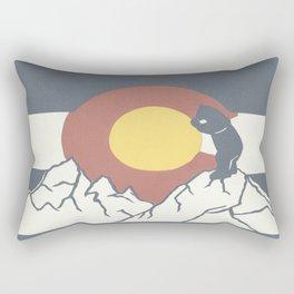 Colorado, the Big Blue Bear and the Rockies Rectangular Pillow