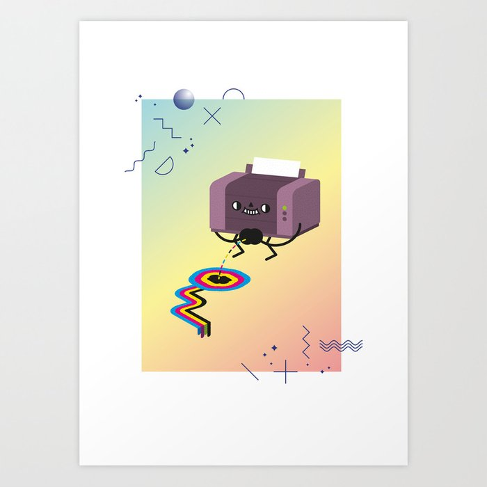 Printer Pee Art Print
