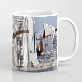 White Beach Chairs Coffee Mug