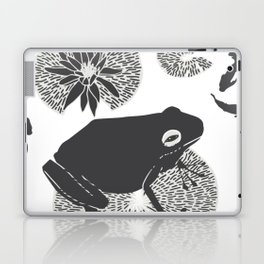 Frog on a Lily Pad No Colour Laptop & iPad Skin