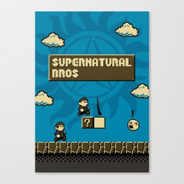 Supernatural Bros. Canvas Print