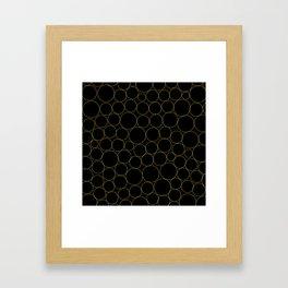Golden Circles Framed Art Print