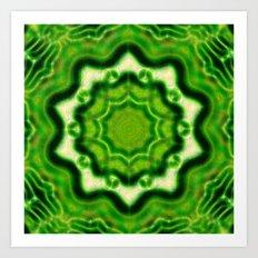 WOOD Element kaleido pattern Art Print