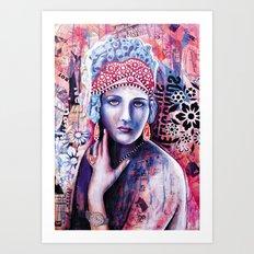 Reine de glace Art Print