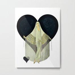 """""""June Bride"""" Art Deco Illustration by Erté Metal Print"""