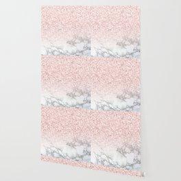 Pretty Rosegold Marble Sparkle Wallpaper