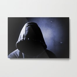 dangerous man in the shadow Metal Print