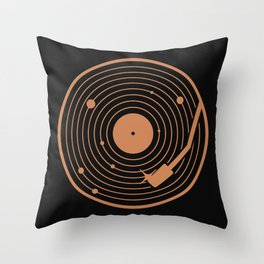 The Vinyl System Throw Pillow