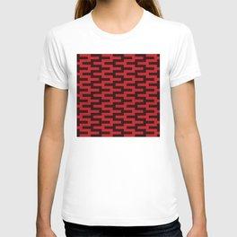 Geometric Pattern #88 (red zigzag) T-shirt
