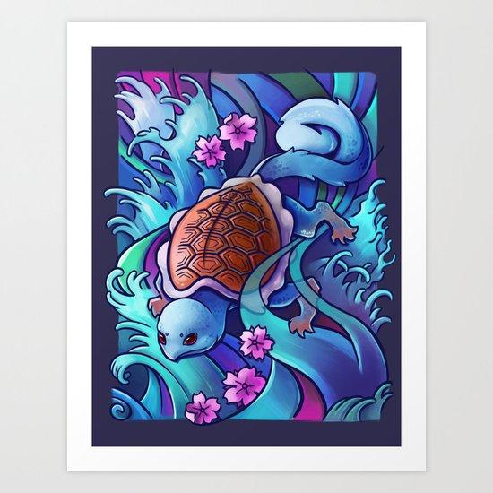 Water Turtle Art Print