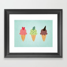 Ice Cream Fantasy Framed Art Print