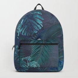 Blue Hawaiian Tropical Rain Forest Backpack