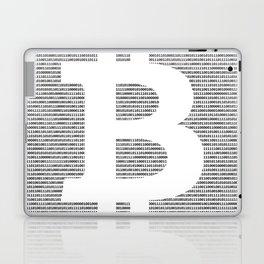 Binary Bitcoin Laptop & iPad Skin