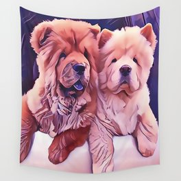 Chow Pals Wall Tapestry