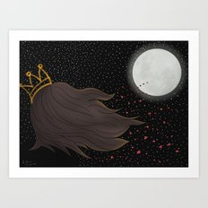 The Queen and the Moon Art Print