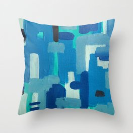 basketweaving underwater Throw Pillow