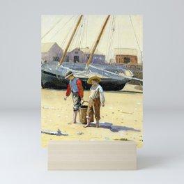 Winslow Homer A Basket of Clams Mini Art Print