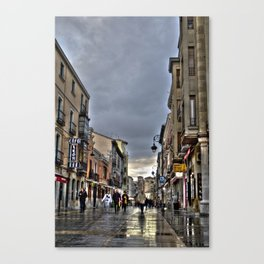 Walking through the Broad Street Canvas Print