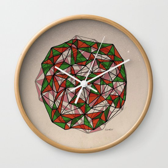 - red orange green - Wall Clock