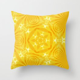 Golden Yellow Starfish Design Throw Pillow