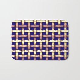 Brown weaved pattern Bath Mat
