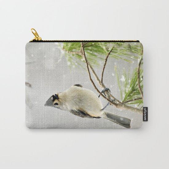 Snowy Songbird Carry-All Pouch