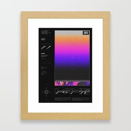 SHADES ⏤ LOVE Framed Art Print