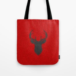Antiallergenic Hand Knitted Deer Winter Wool Texture - Mix & Match with Simplicty of life Tote Bag