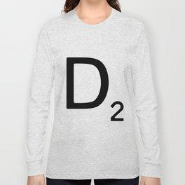 Letter D - Custom Scrabble Letter Wall Art - Scrabble D Long Sleeve T-shirt