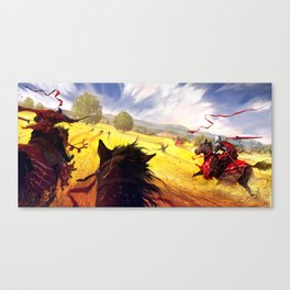 Yellow Charge Canvas Print