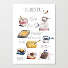 lamington instructions Canvas Print