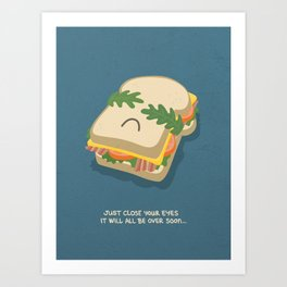 Snack being Attacked Art Print