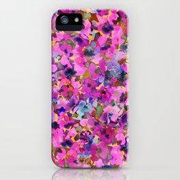 Pink Rainbow Garden iPhone Case
