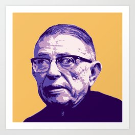 Jean-Paul Sartre Art Print