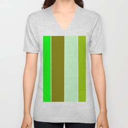 just four colors 1: green Unisex V-Neck