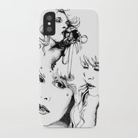 stevie nicks iPhone & iPod Cases featuring Trois Stevie by Lynette K.