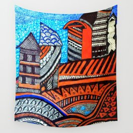 A City View Wall Tapestry