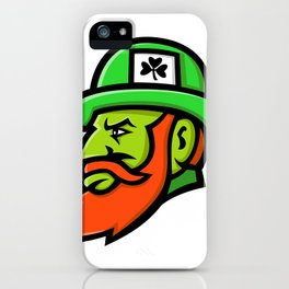 Leprechaun Head Mascot iPhone Case