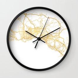 ISTANBUL TURKEY CITY STREET MAP ART Wall Clock
