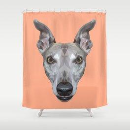 Whippet // Peach (Vespa) Shower Curtain