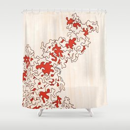 Macro Coral Shower Curtain
