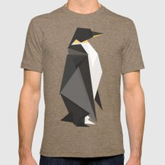 Fractal geometric emperor penguin Tri-Coffee Mens Fitted Tee LARGE