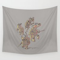turtles Wall Tapestries featuring Turtles by Fightstacy