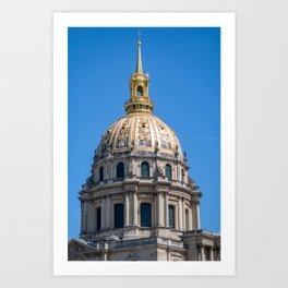 Hotel des Invalides dome in Paris Art Print