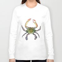 crab Long Sleeve T-shirts featuring Crab by Sara Katy