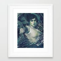 the legend of korra Framed Art Prints featuring Korra by MATT DEMINO