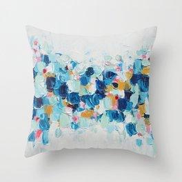 Elemental Azure Throw Pillow